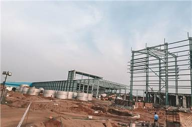 The Hyderabad site under construction