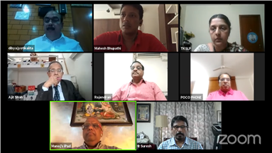 The one-and-a-half hour long webinar saw online participation of printers pan India
