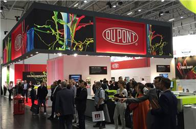 The DuPont booth at Drupa 2016