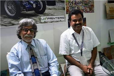 (from left) Mohan KT and KV Sharma of UV Printers