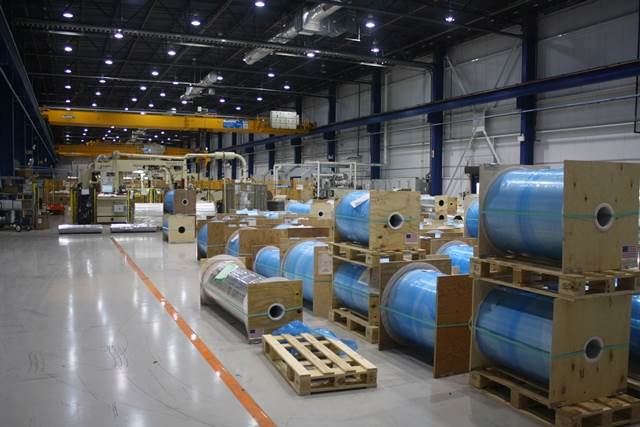 The warehouse of the US plant