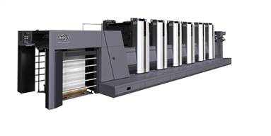 The RMGT 920 five colour with coater press is from the family of the popular 36-inch press