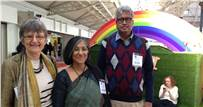 The people behind Bookaroo: Jo Williams, Swati Roy and Venkatesh M Swamy