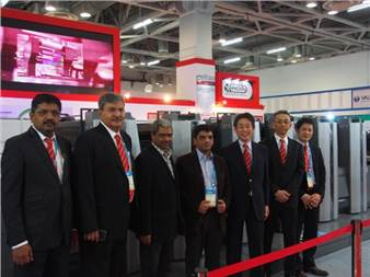 """(second from left) Vinay Kaushal, director, Provin Technos: """"The first day was very fruitful. This is just the beginning, we will have few more announcements by the end of the show"""""""