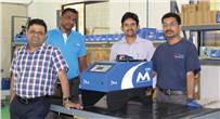 """Team Valco Melton with its star product D4-e. Ravi Kiran (l): """"We can manufacture 500 systems in a year"""""""