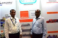 N Abu, director, M-Tech Print Solutions (with) with his associate at Labelexpo India