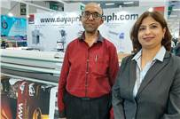 (right) Sonal Sheth of Sheth Printograph during the show