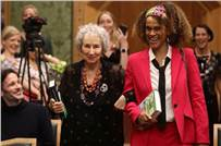 Margaret Atwood and Bernardine Evaristo during the award ceremony