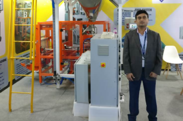 VT Corp's Akhilesh highlighted its flagship machine Emballage, VTC-EMB-1, VTC-VGFP-1.1, and other automatic weighing machines