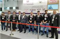 TP Jain of Monotech Systems with his team at Labelexpo Europe 2019