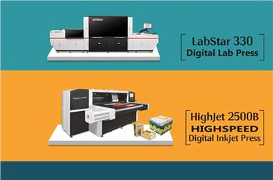 Labstar 330 can print at a maximum speed of 50-m/min while the Highjet series is based on scanning technology
