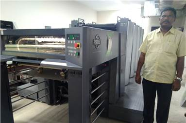 G Venkateswara Reddy of Sri Jayaram Offset Press with the new RMGT 790 XL