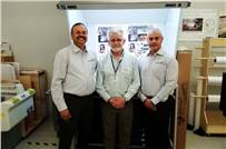 (l-r) Satish Nayak of Bodhi Professional Solutions; Don Hutcheson of Hutch Color and Tarun Chopra of Color Dots Prepress Studio