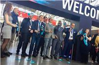 The Fespa executive board cuts the ribbon of the 2019 show