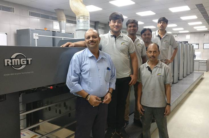Team Print Vision with the new RMGT press