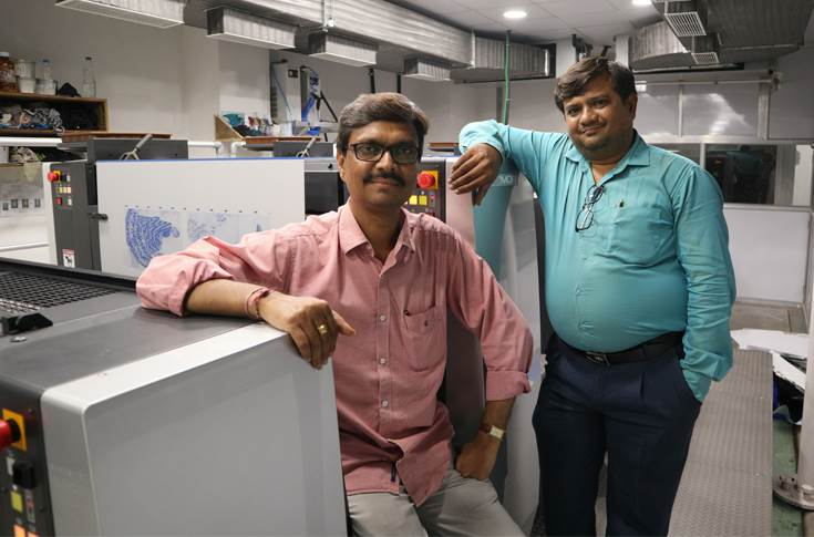(l-r) Nirav Patel with his partner Tarun Patel of Madhavi Offset, has shifted his operations to a new facility in Surat to become a one-stop solution provider