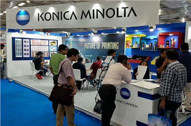 The Konica Minolta stall during PackPlus 2019