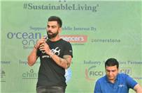 Cricketer Virat Kohli during the event