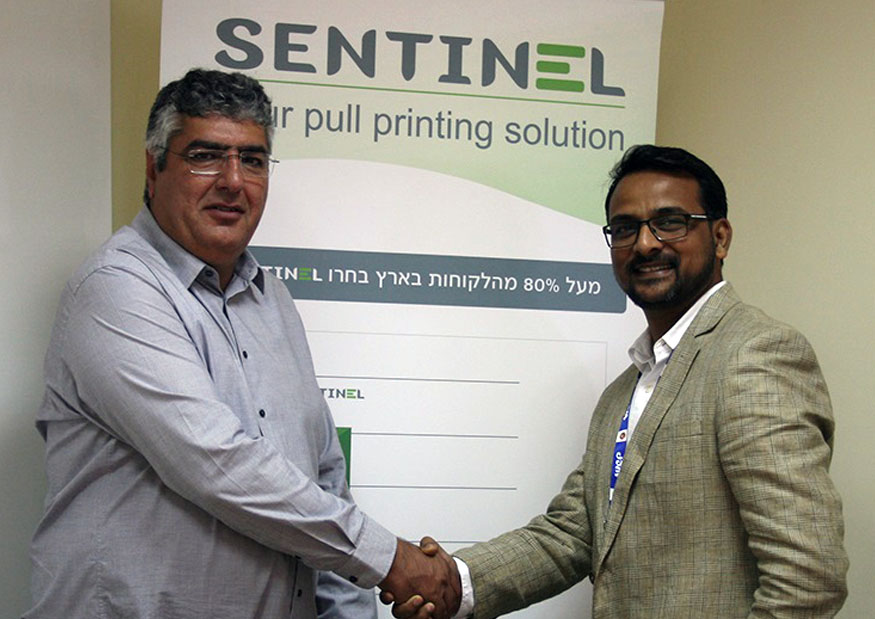 (l-r) Belal Lehwany, founder and CEO, ePaper with Manish Garg of WeP Solutions