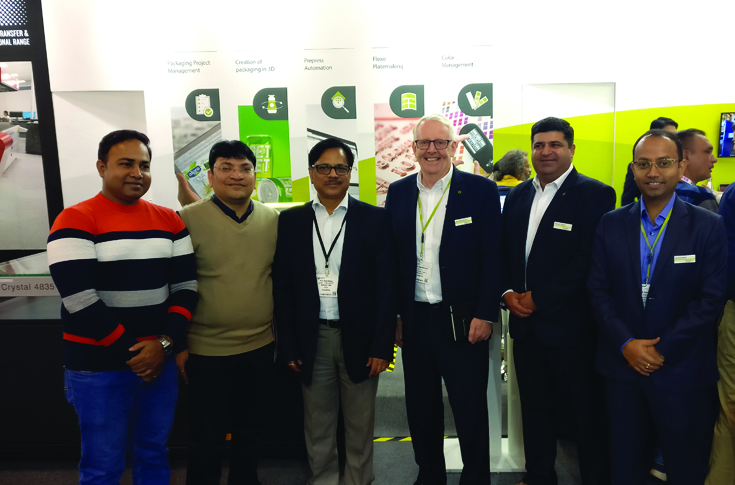 PK Agarwal, joint president, cylinders business at Uflex with the Esko team