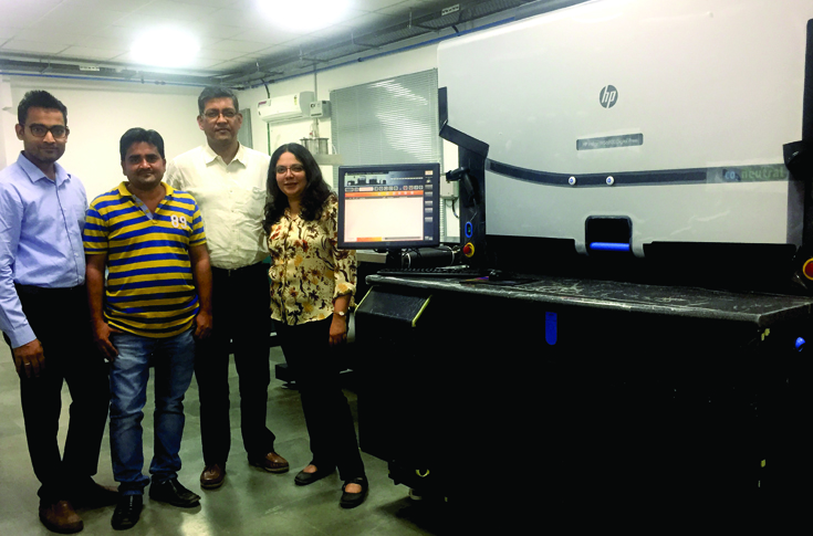 The Leap Digiprint team with the HP Indigo WS6800