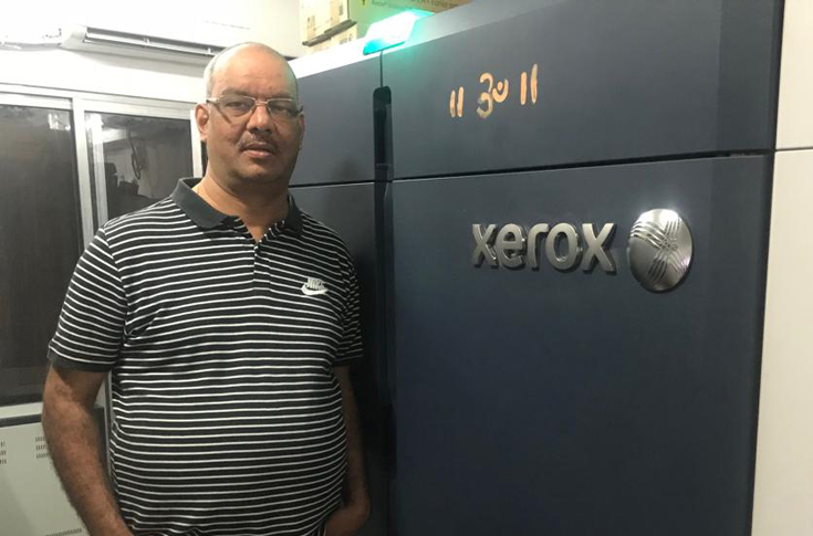 Ganesh Pai, proprietor, Smruti Digital with the Xerox Iridesse