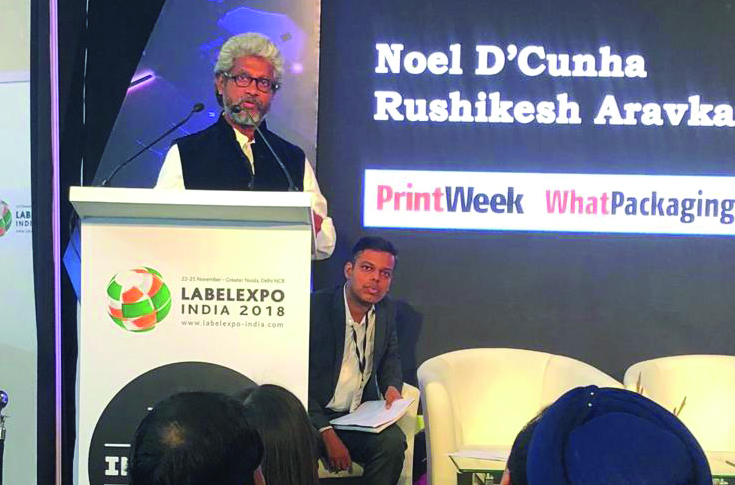 Noel D'Cunha, managing editor, PrintWeek India, and Rushikesh Aravkar, Technical Editor, PrintWeek India and WhatPackaging? during the conference