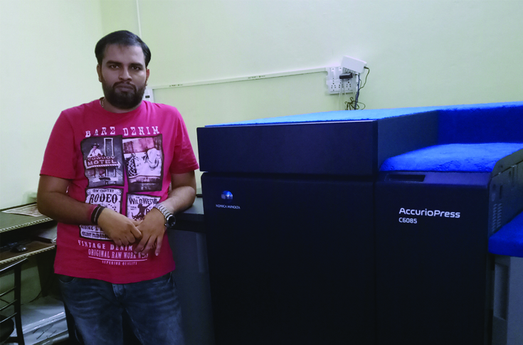 Nitesh Miglani of Karizma Album Binder with the AccurioPress C6085