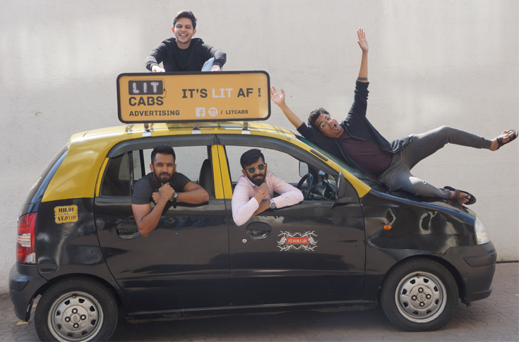 Siddhartha Shekhar (on top carrier), Aditya Thorat (left backseat window)
