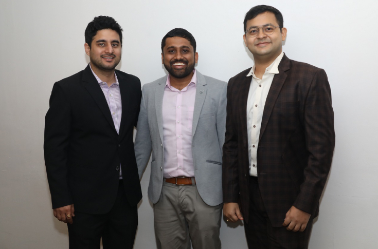 Ankit Tomar - co founder and CTO, Sachin Agarwal - co founder and COO, Aniket Deb - co founder and  CEO (l-r )
