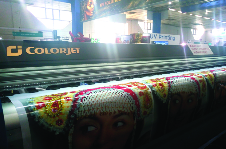 Colorjet launched its Verve Hybrid UV flatbed/ roll-to-roll printer during the show