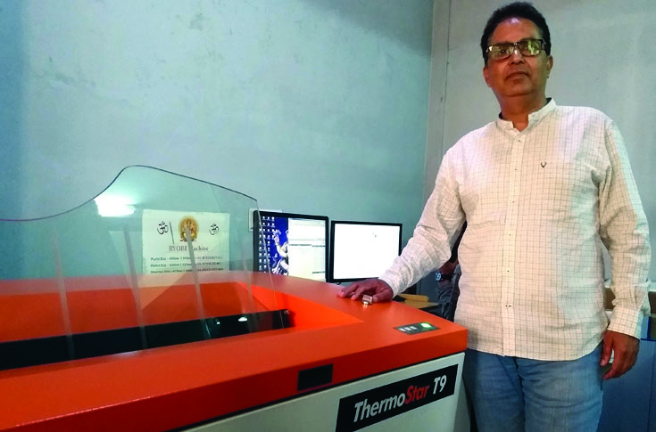 Ashwani Thapar, proprietor, Pearl Printers, with the ThermoStar T9