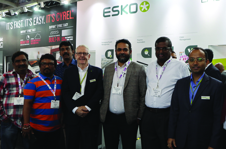 Team Digiflex and team Esko at Labelexpo India 2018