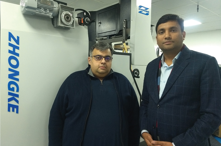 (l-r) Rohit Rajpal of Zhongke India and Sumit Goel of Packmaax India