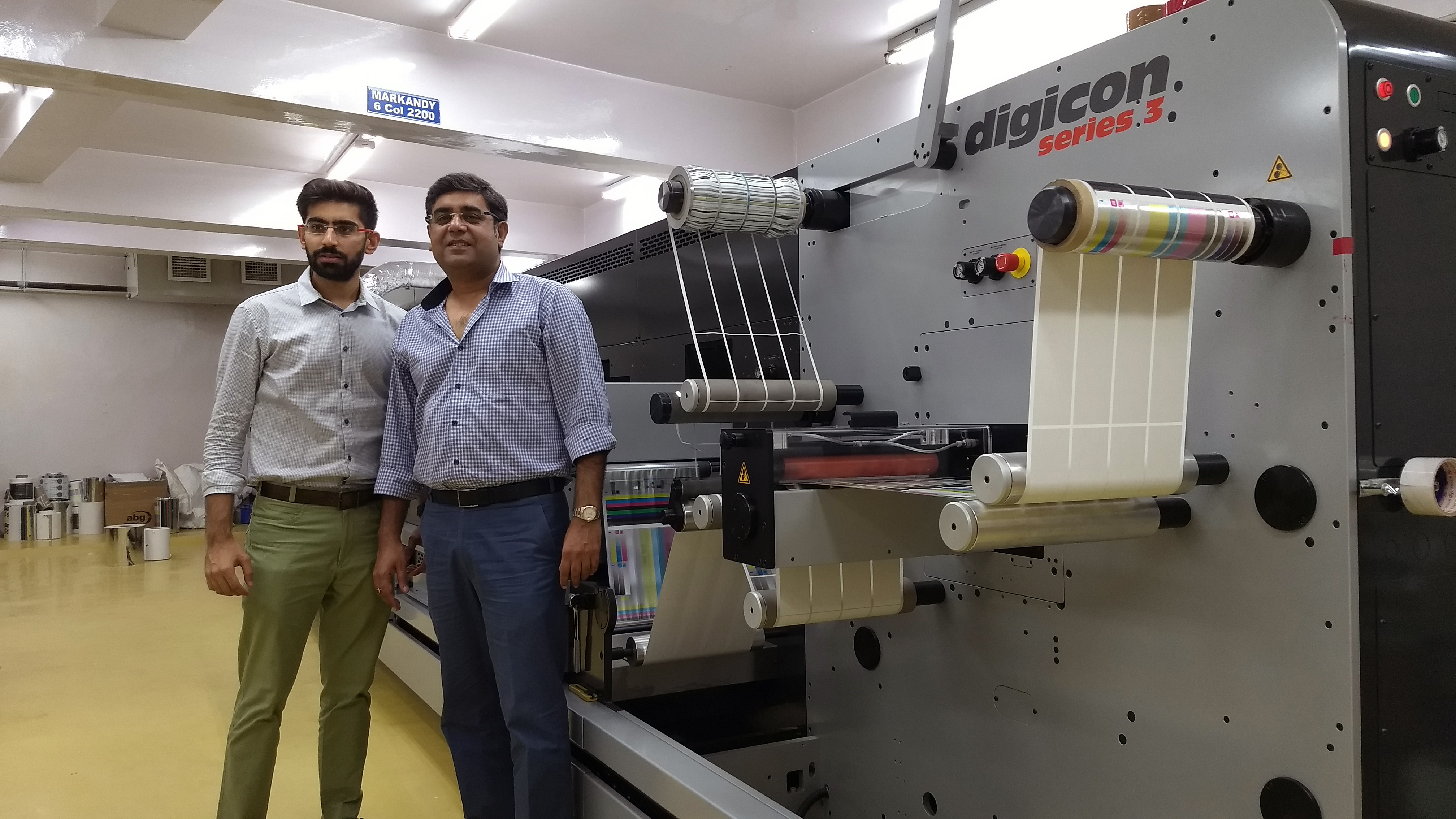 (from left) Krish and Rajeev Chhatwal of Kwality Offset Printers