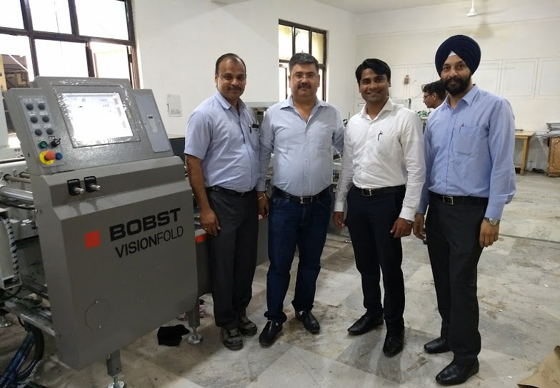 Vivek Rakheja (second from left) of Captain Offset with the Bobst team
