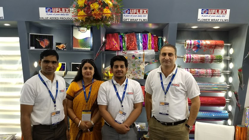 The Uflex Team from its Film Division during the exhibition