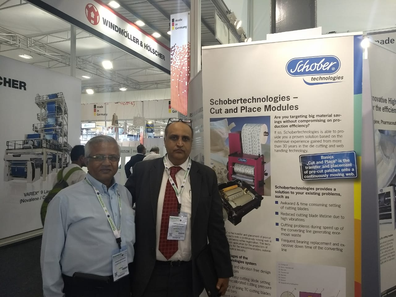 Team Creed Engineers at Schober PlastIndia stand