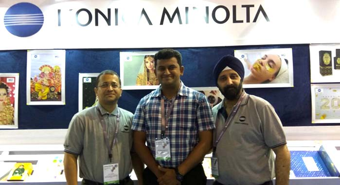 Team Konica Minolta at the Screen Print India show