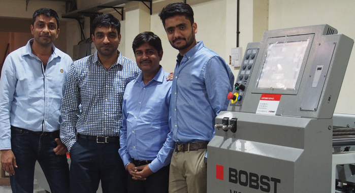 Vadodara-based Concord Printing (Pravin Printing) has installed an RMGT 920 six-colour plus coater press with six-cassette AMS P3 UV curing system and Bobst Visionfold 110 folder-gluer recently, as part of a long-term investment strategy