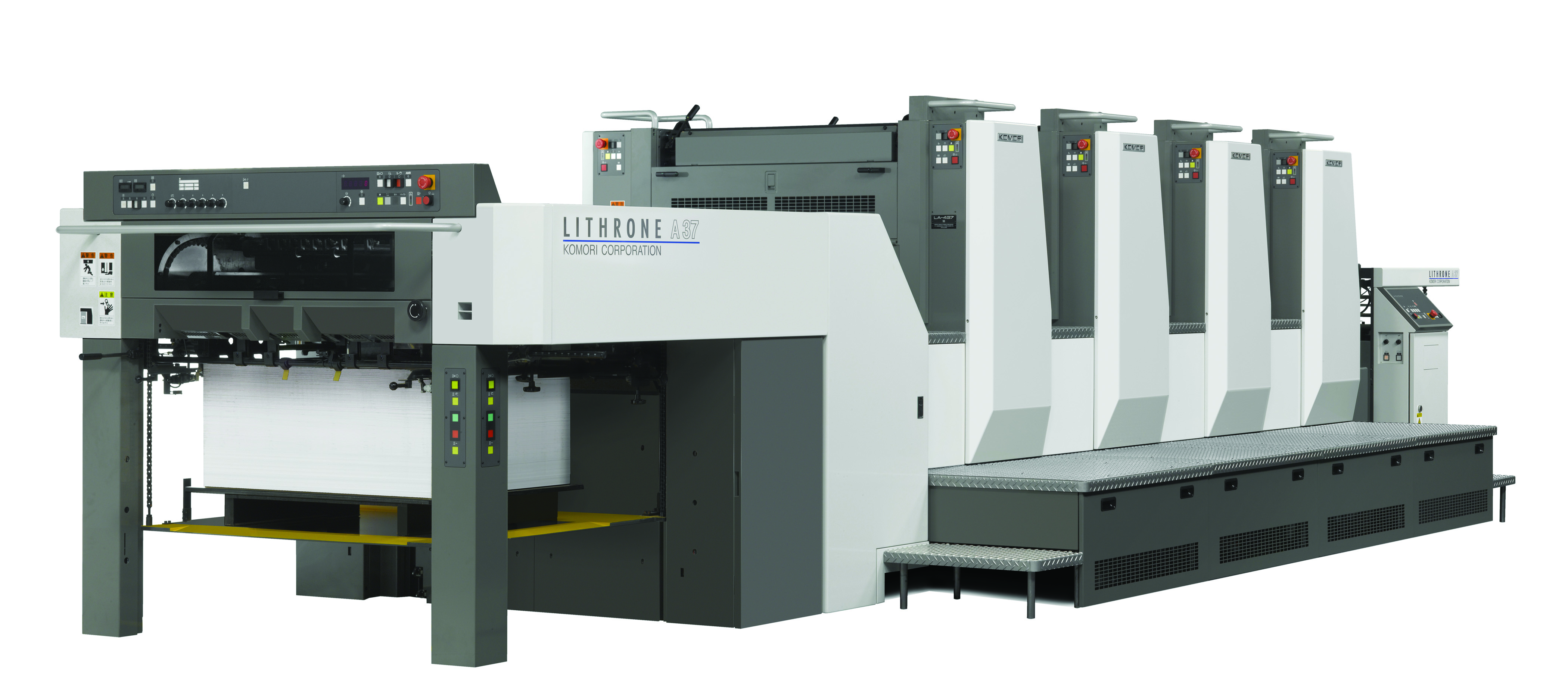 Komori Lithrone A37 was showcased in Drupa 2012, first time.