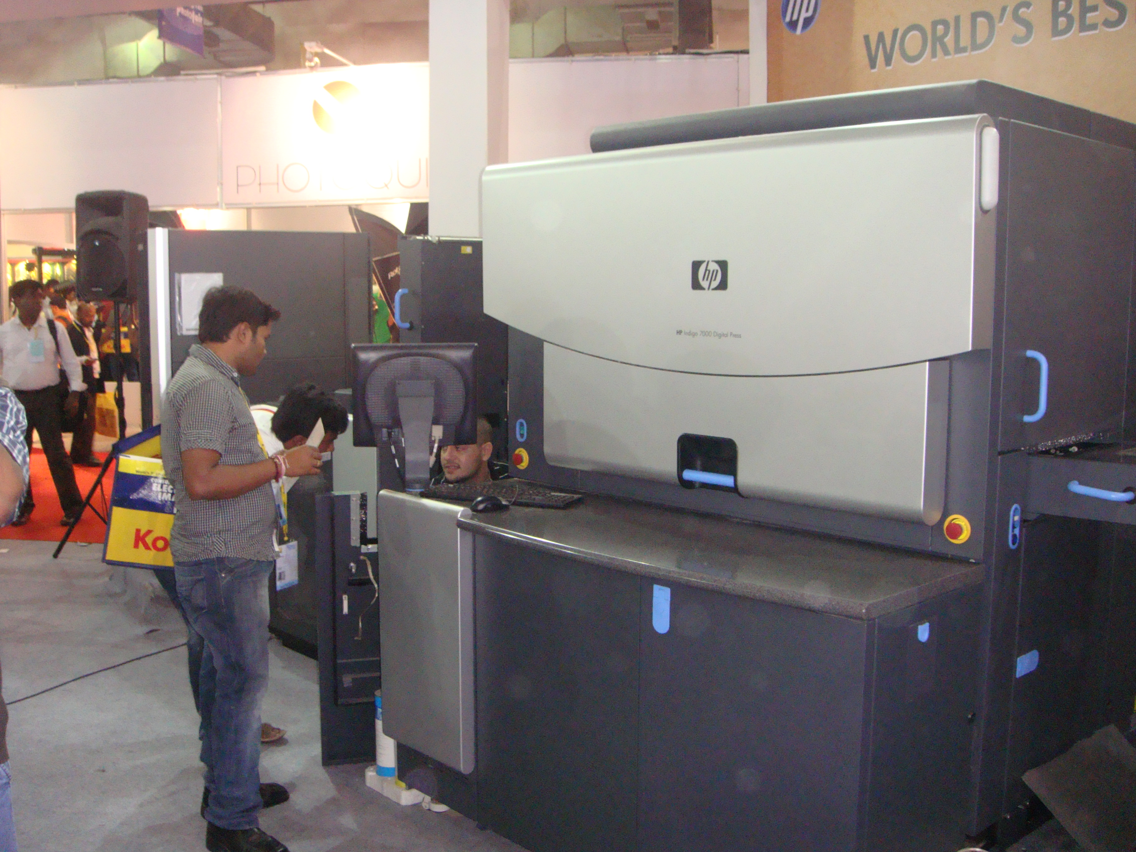 HP Indigo 7000 on display at the recent Photofair 2012