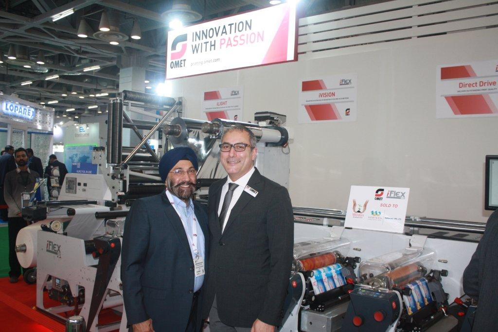 Harveer Sahni of Weldon Celloplast and Paolo Grasso of Omet at Labelexpo India 2016