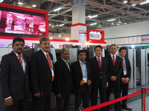 "(second from left) Vinay Kaushal, director, Provin Technos: ""The first day was very fruitful. This is just the beginning, we will have few more announcements by the end of the show"""