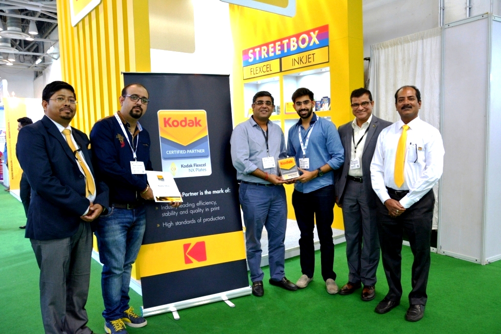 Rajeev Chhatwal, director, Kwality (fourth from right) at the Kodak stand