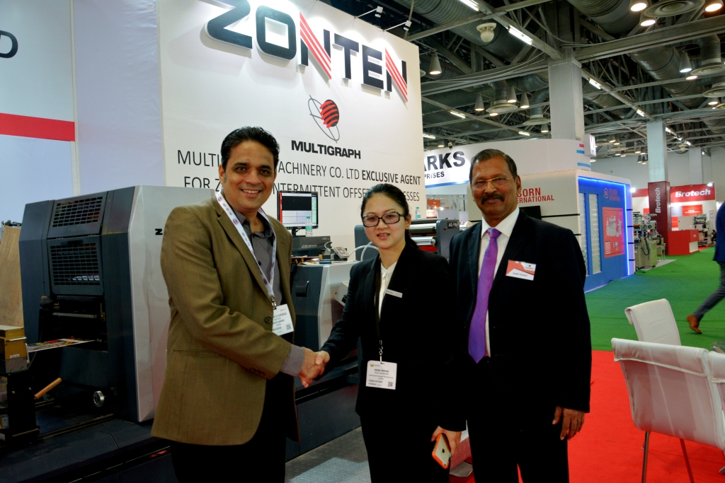Ashish Chitale of Coats & Pack with the representatives from Zonten and Multigraph