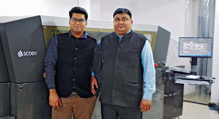Gupta (r) with son Monshu