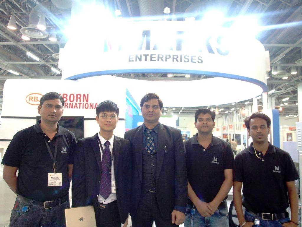 The Marks Enterprises team at Labelexpo India 2006