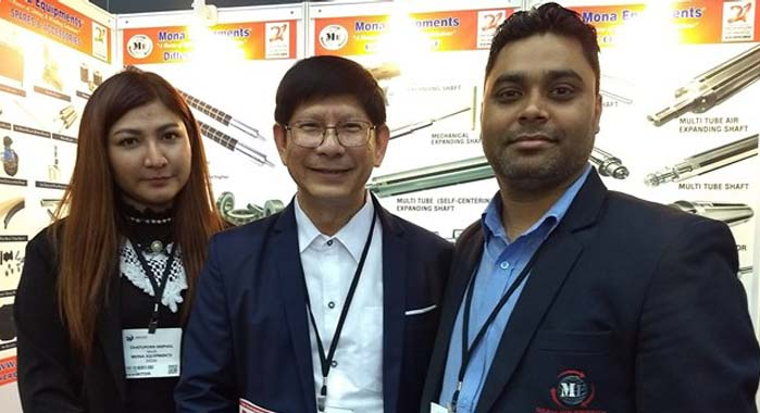 (l-r) Pawan Kumar Singh (extreme right), managing director, Mona Equipments with his overseas partner