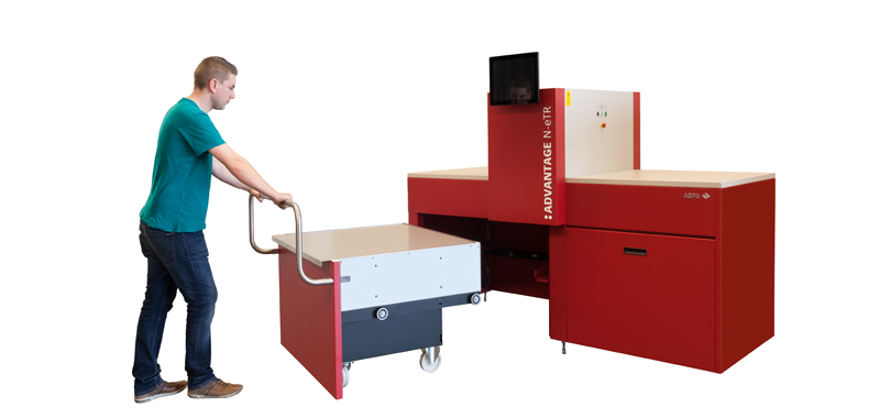 Agfa's Advantage N series CTP outputs 70 plates per hour of 576x700mm size, with a resolution of 1200dpi